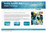 Screenshot of Web Design for Anna Smith Art